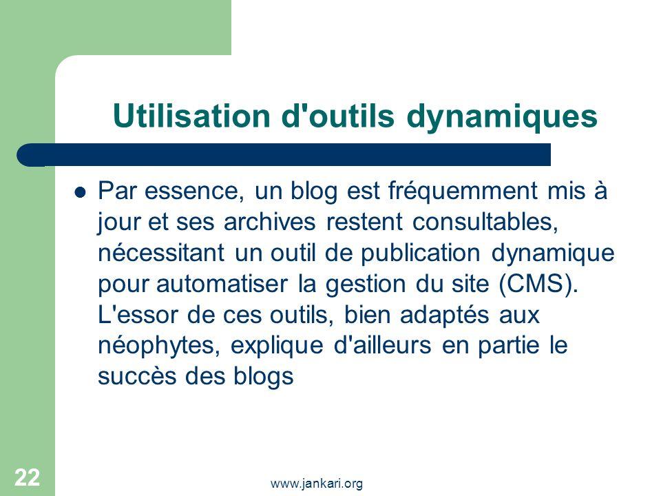 Utilisation d outils dynamiques