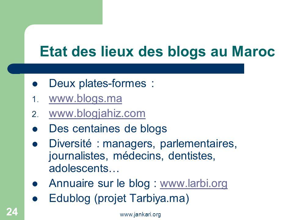 Etat des lieux des blogs au Maroc