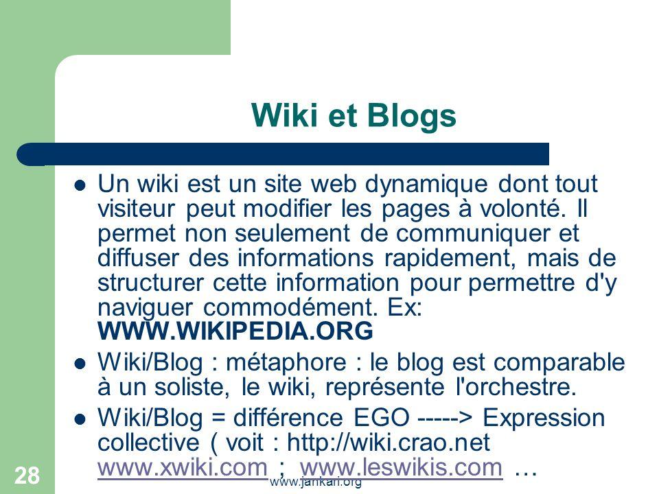 Wiki et Blogs