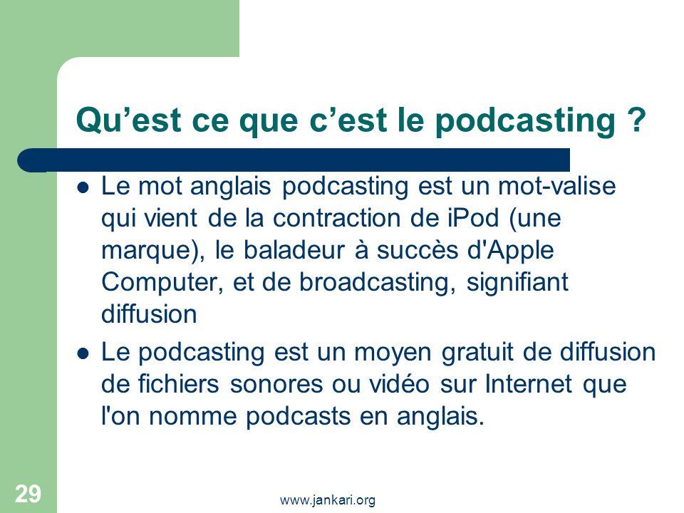 Qu'est ce que c'est le podcasting