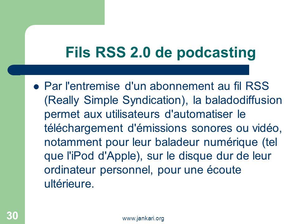 Fils RSS 2.0 de podcasting