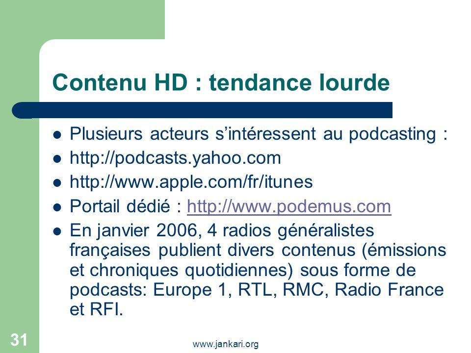 Contenu HD : tendance lourde