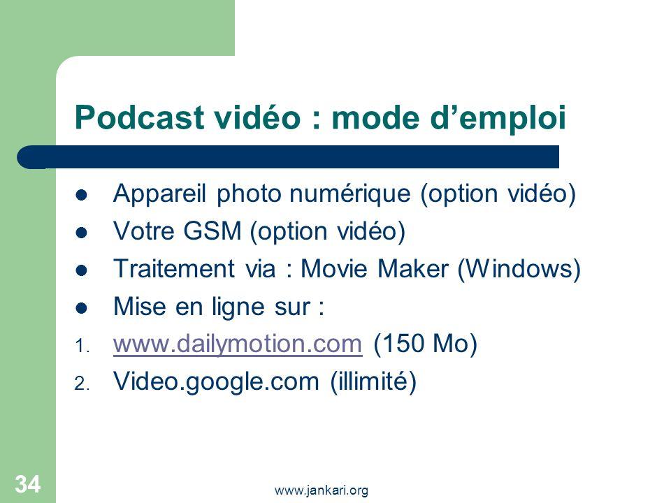 Podcast vidéo : mode d'emploi