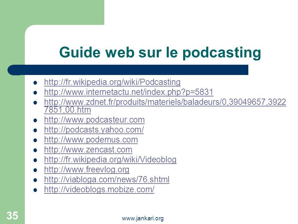 Guide web sur le podcasting