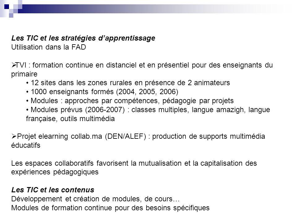Les TIC et les stratégies d'apprentissage