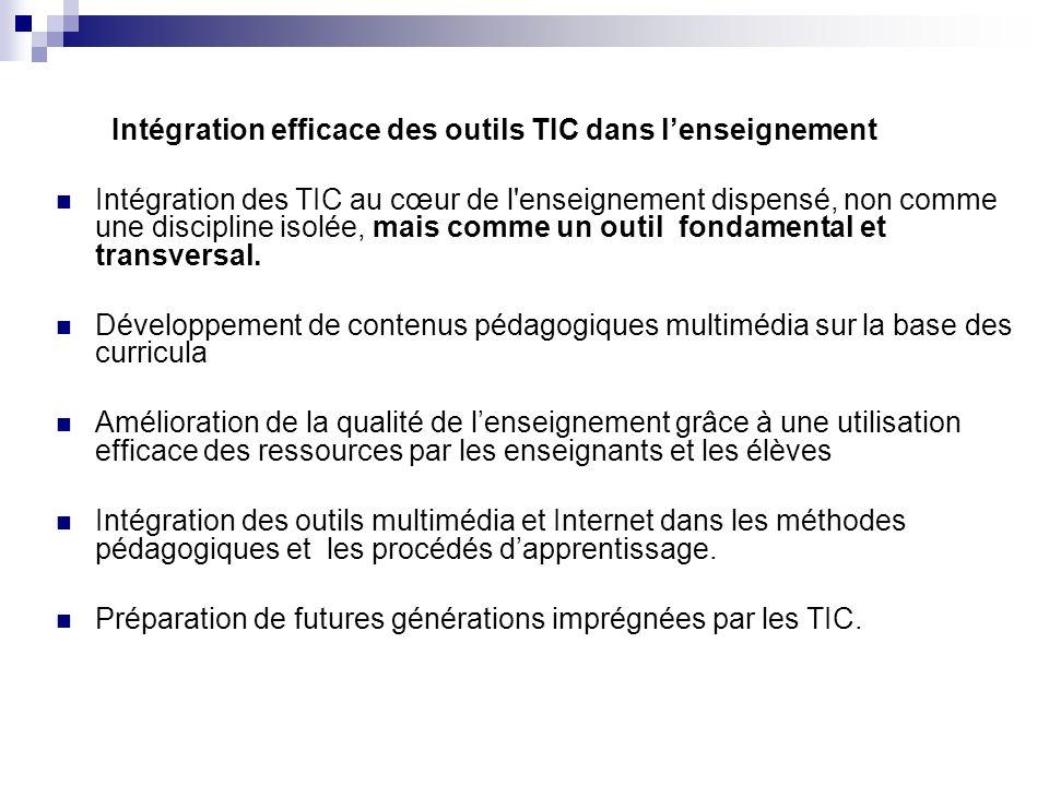 Intégration efficace des outils TIC dans l'enseignement