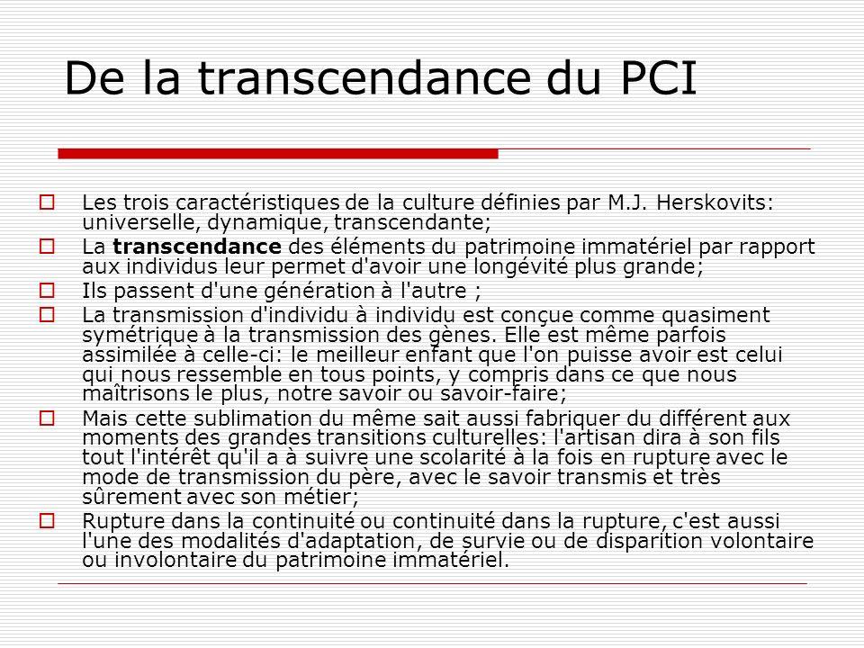 De la transcendance du PCI
