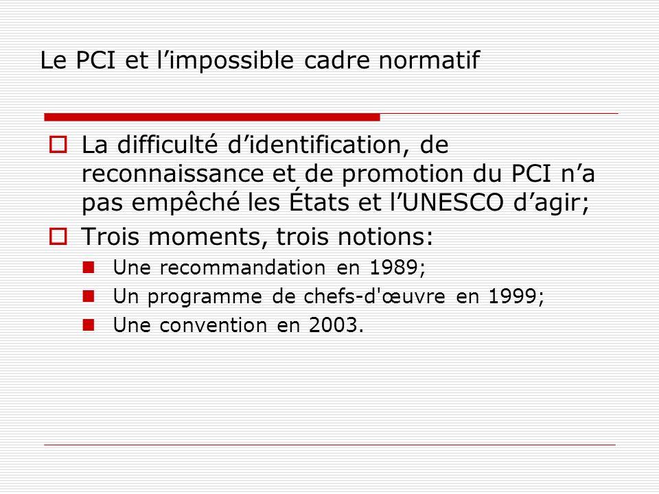 Le PCI et l'impossible cadre normatif