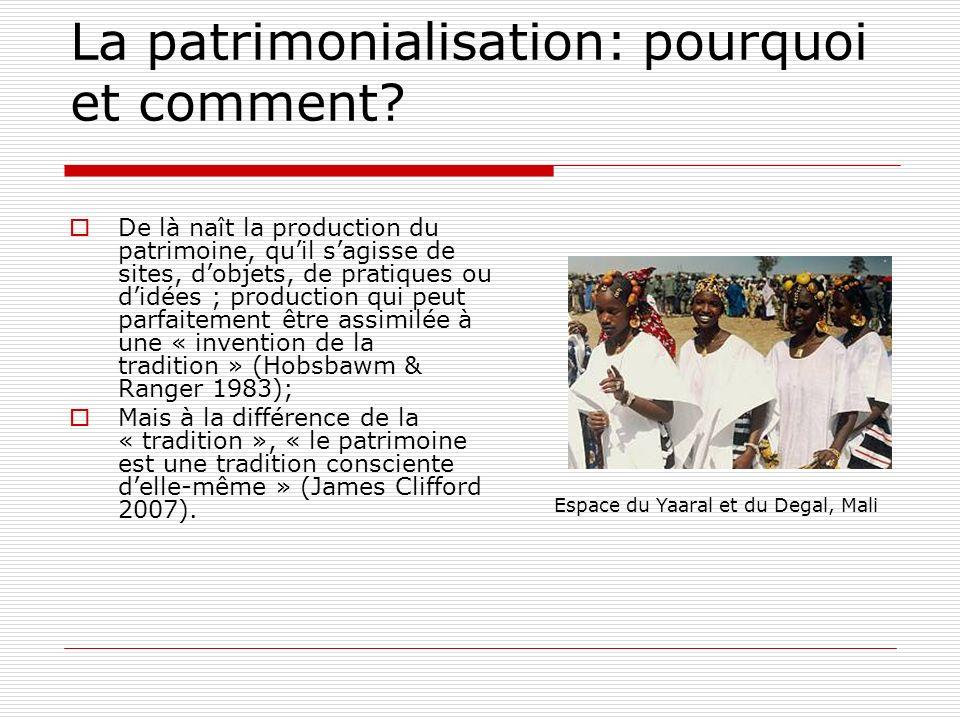 La patrimonialisation: pourquoi et comment