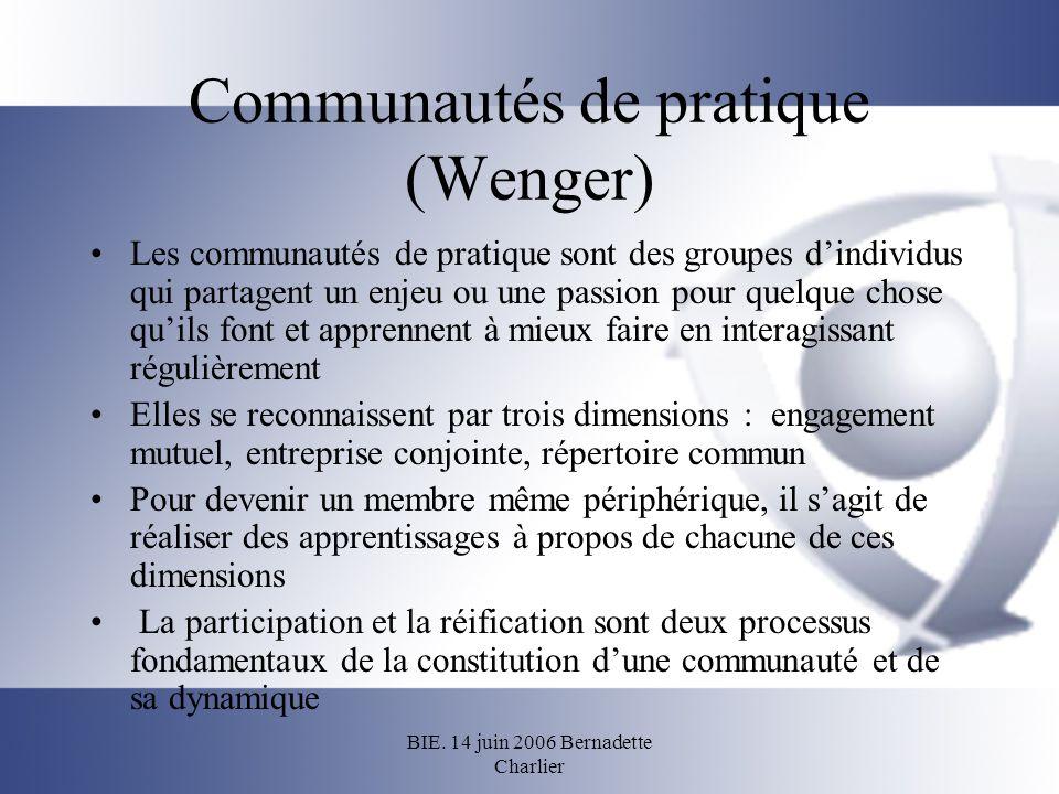 Communautés de pratique (Wenger)