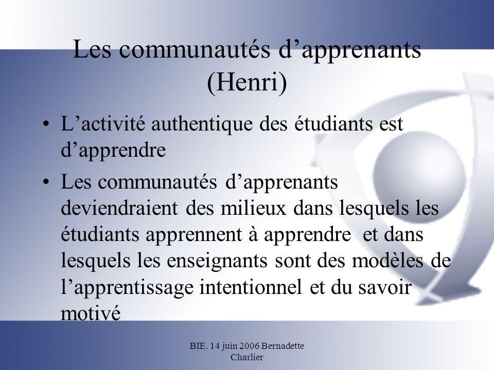 Les communautés d'apprenants (Henri)