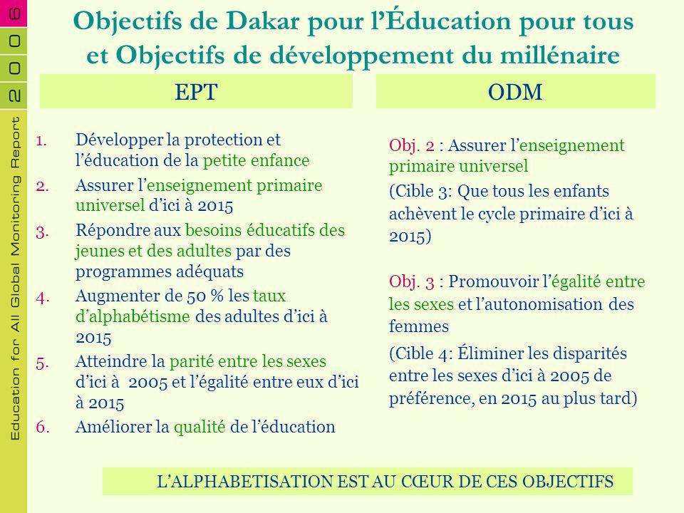 L'ALPHABETISATION EST AU CŒUR DE CES OBJECTIFS
