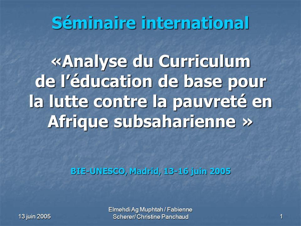 BIE-UNESCO, Madrid, 13-16 juin 2005