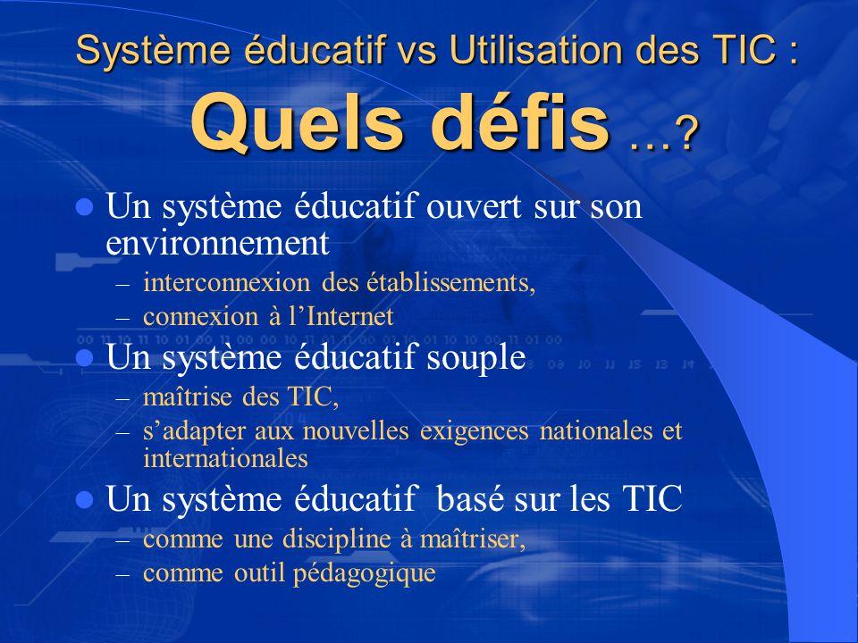 Système éducatif vs Utilisation des TIC : Quels défis …