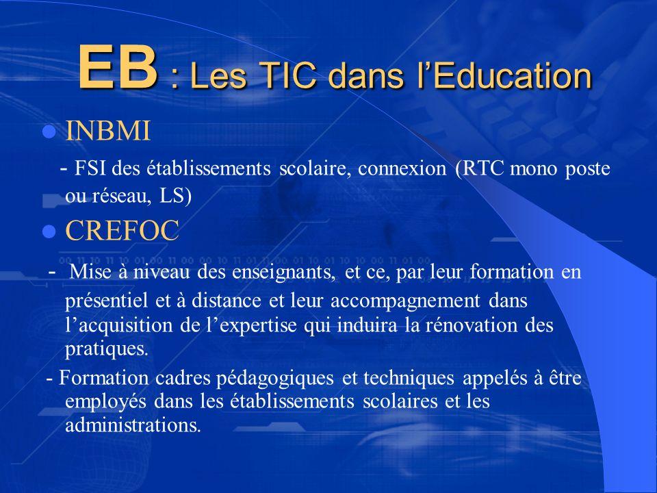 EB : Les TIC dans l'Education