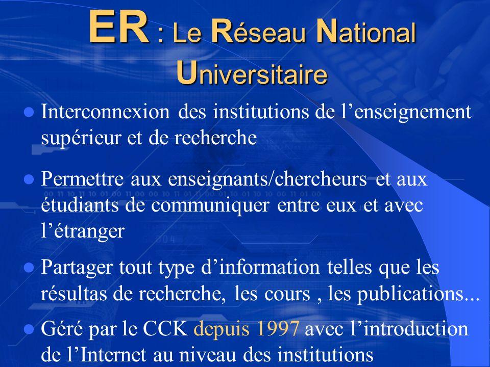 ER : Le Réseau National Universitaire