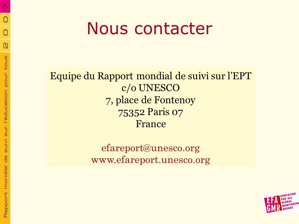 Equipe du Rapport mondial de suivi sur l'EPT