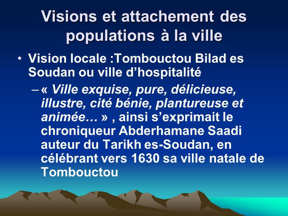 Visions et attachement des populations à la ville