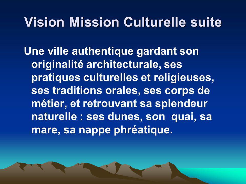 Vision Mission Culturelle suite