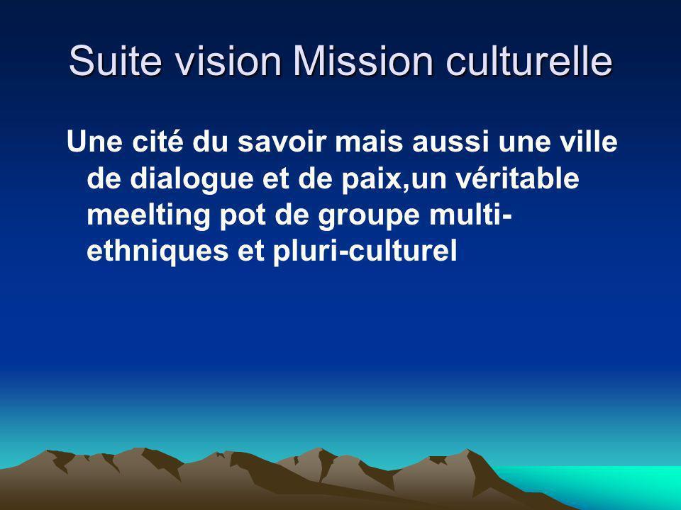 Suite vision Mission culturelle
