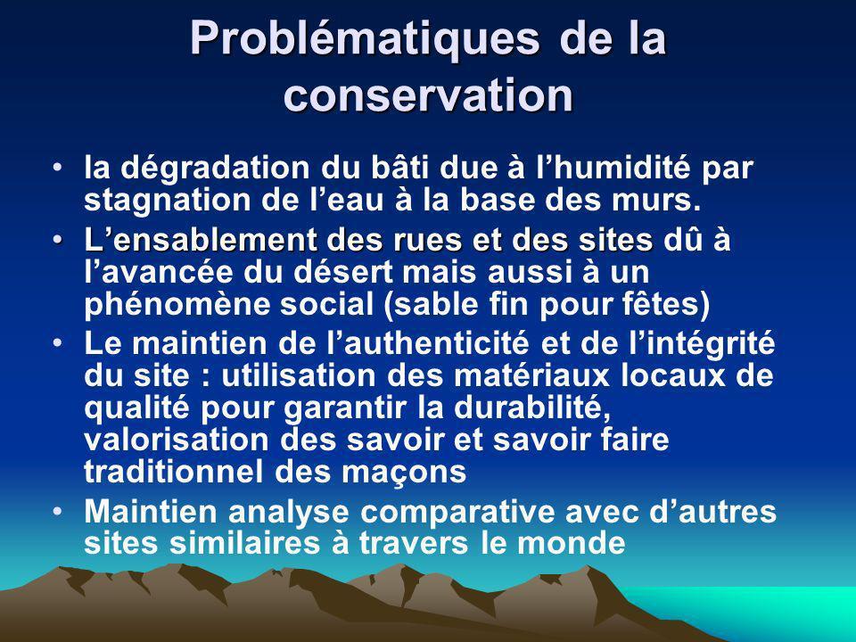 Problématiques de la conservation