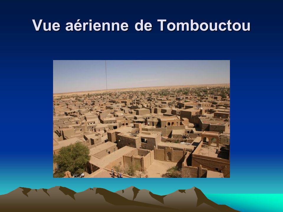 Vue aérienne de Tombouctou