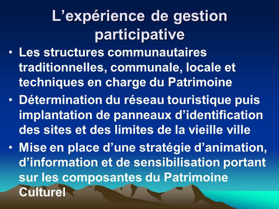 L'expérience de gestion participative