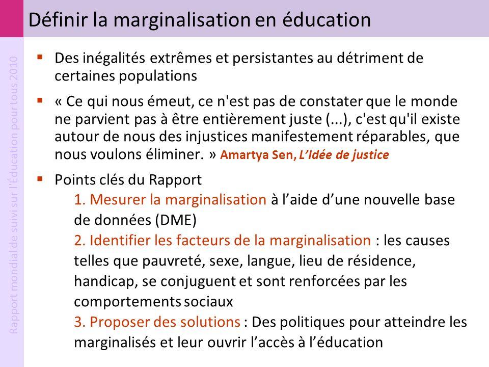 Définir la marginalisation en éducation
