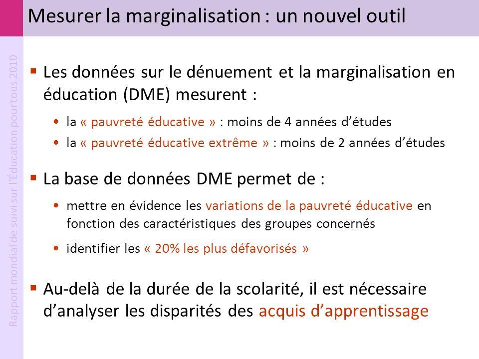 Mesurer la marginalisation : un nouvel outil