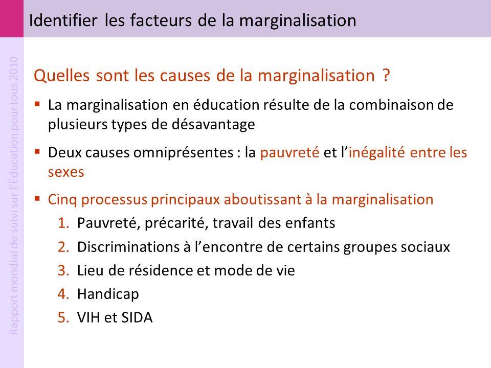 Identifier les facteurs de la marginalisation