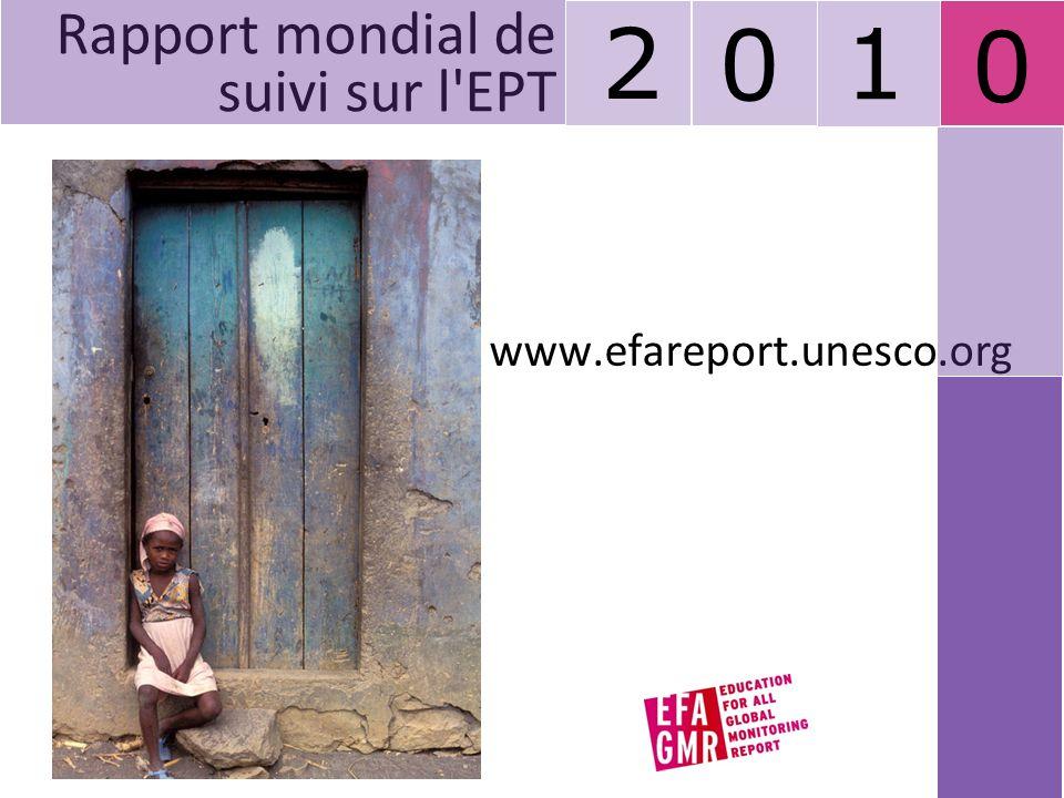 2 1 Rapport mondial de suivi sur l EPT www.efareport.unesco.org