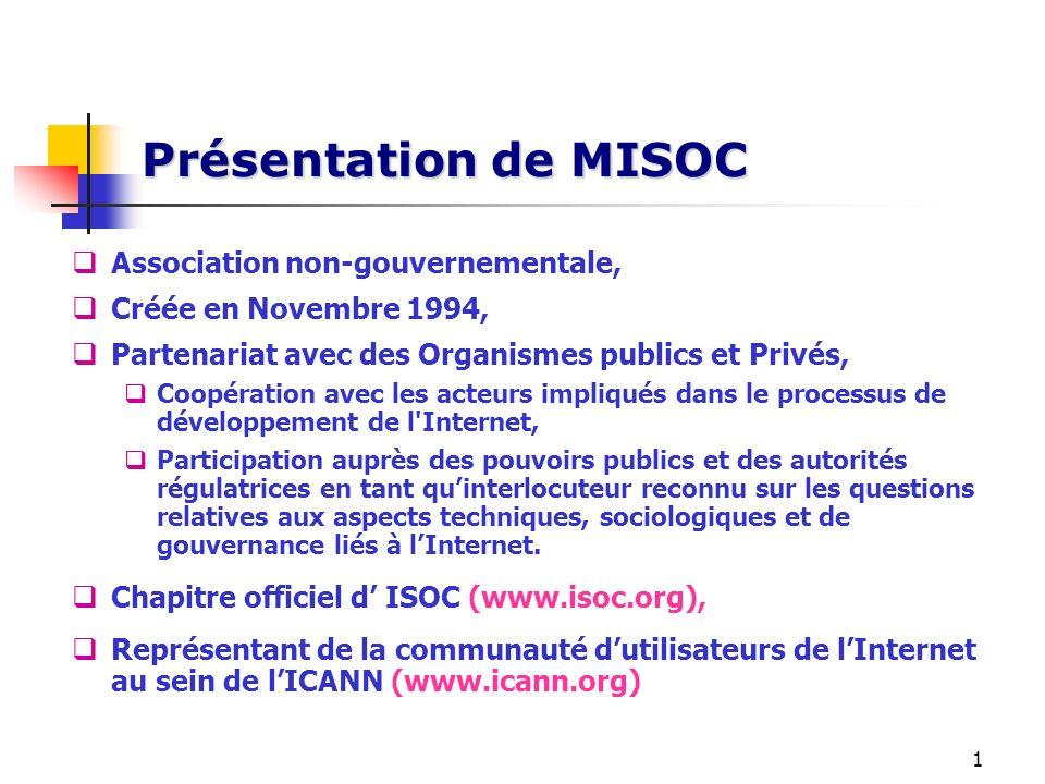 Présentation de MISOC Association non-gouvernementale,