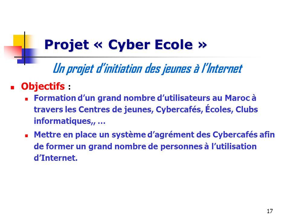 Un projet d'initiation des jeunes à l'Internet