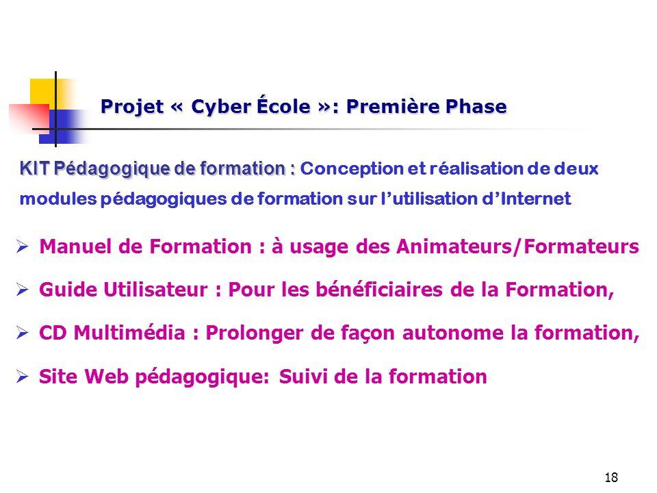 Projet « Cyber École »: Première Phase