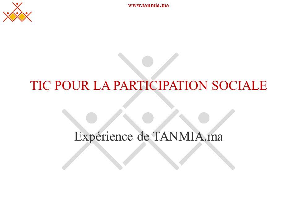 TIC POUR LA PARTICIPATION SOCIALE
