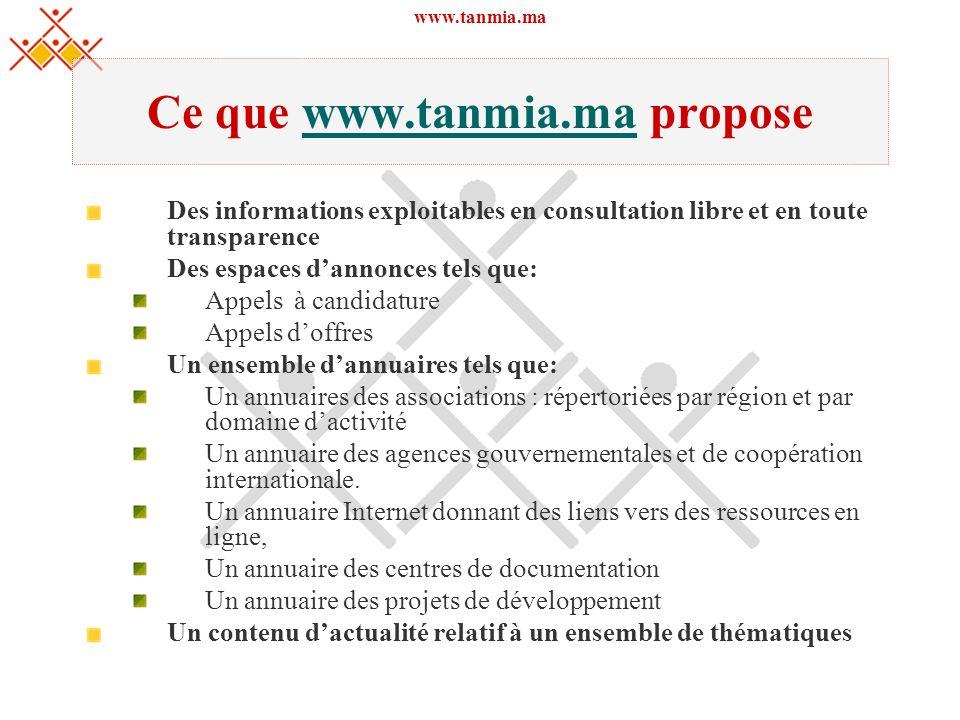Ce que www.tanmia.ma propose