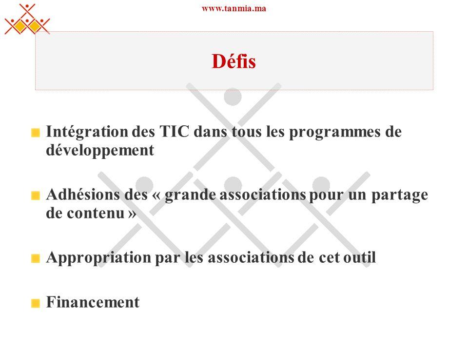 Défis Intégration des TIC dans tous les programmes de développement
