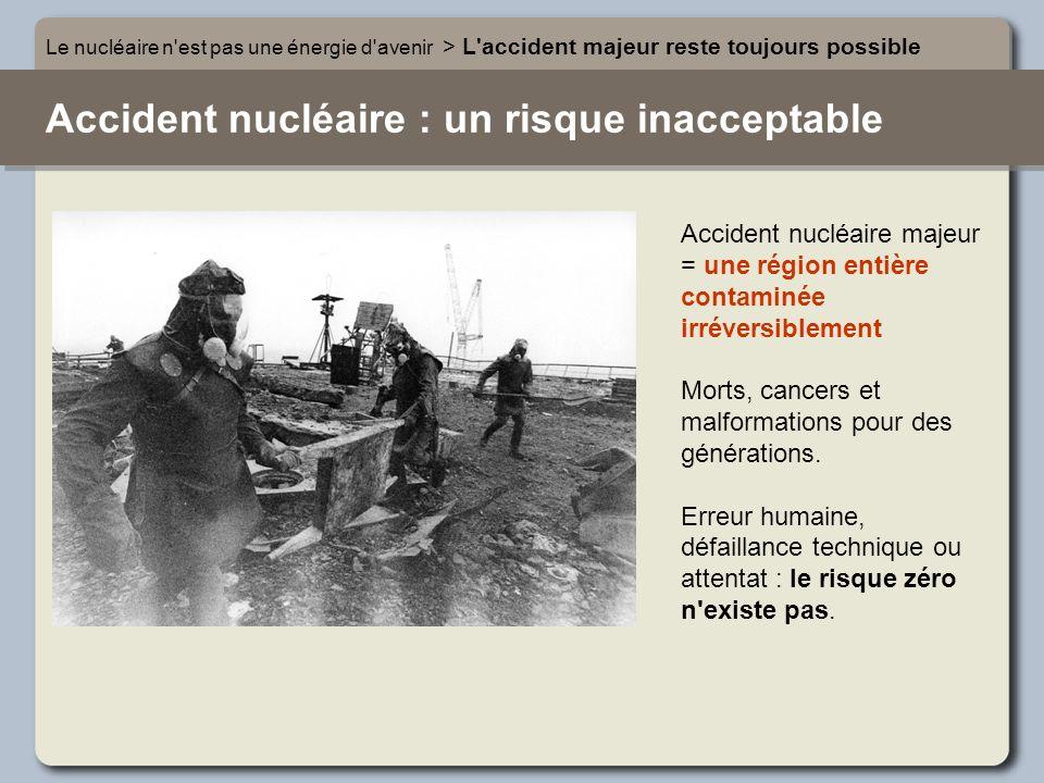 Accident nucléaire : un risque inacceptable