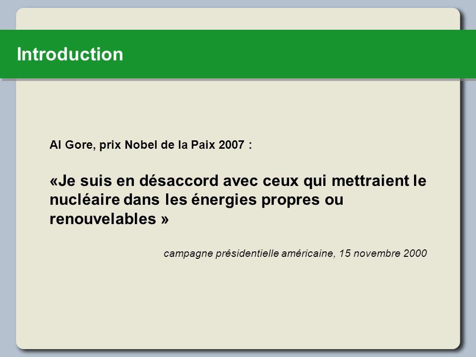 IntroductionAl Gore, prix Nobel de la Paix 2007 :