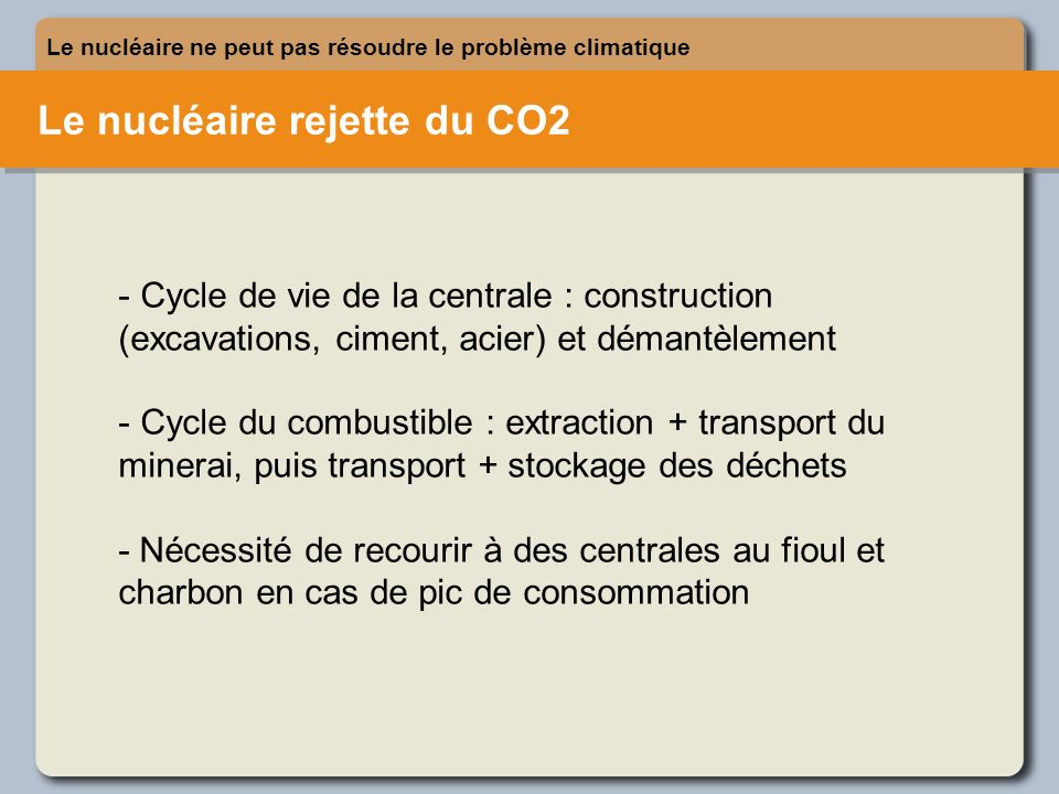 Le nucléaire rejette du CO2