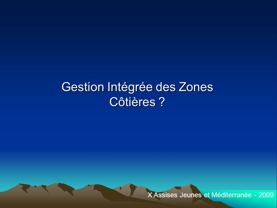 Gestion Intégrée des Zones Côtières