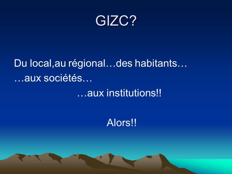 GIZC Du local,au régional…des habitants… …aux sociétés…