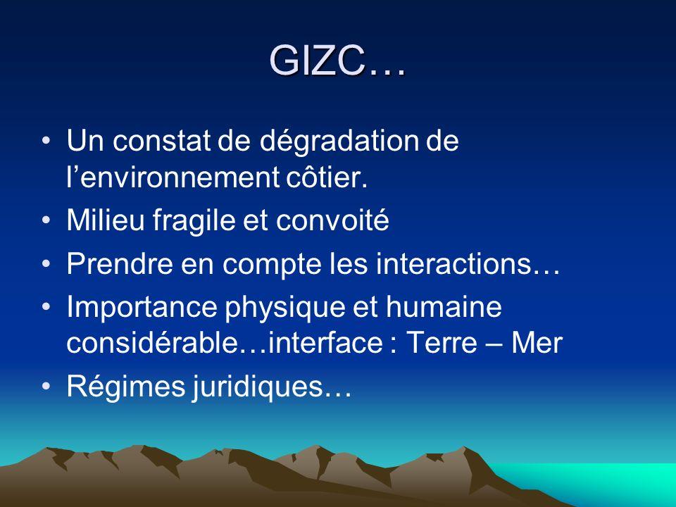 GIZC… Un constat de dégradation de l'environnement côtier.