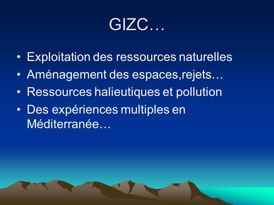 GIZC… Exploitation des ressources naturelles