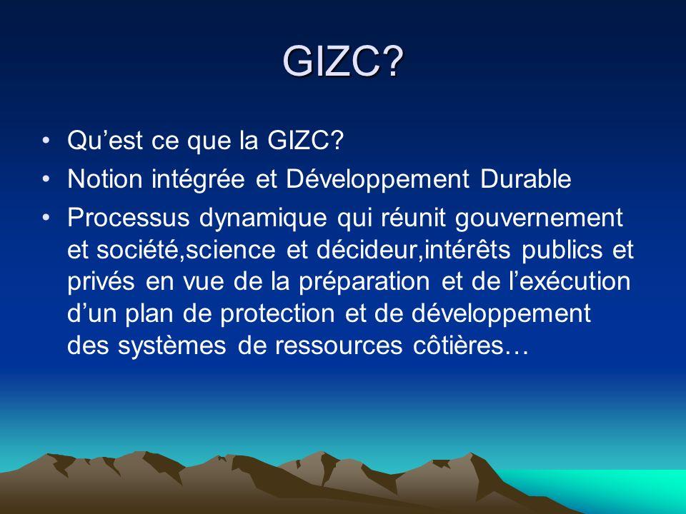 GIZC Qu'est ce que la GIZC Notion intégrée et Développement Durable