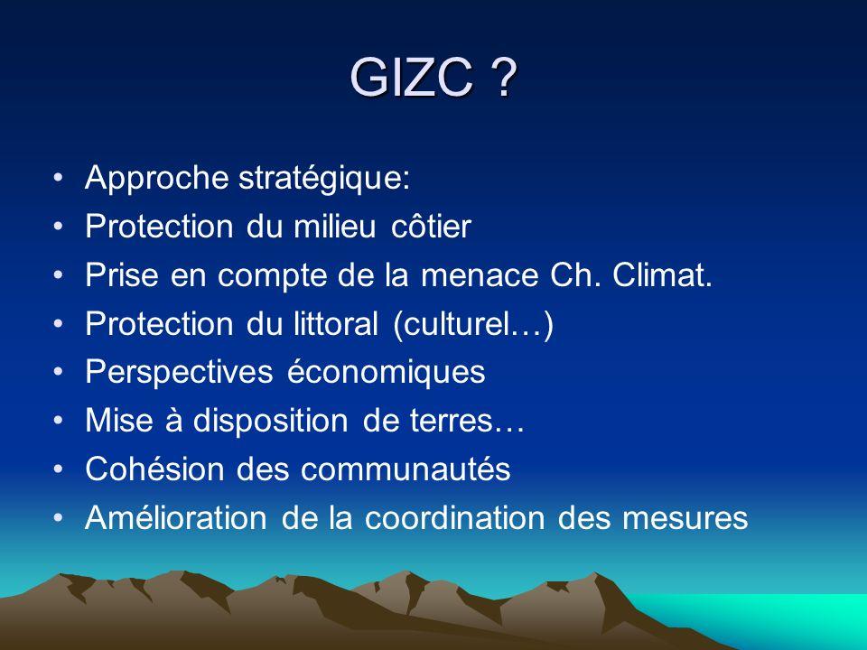 GIZC Approche stratégique: Protection du milieu côtier