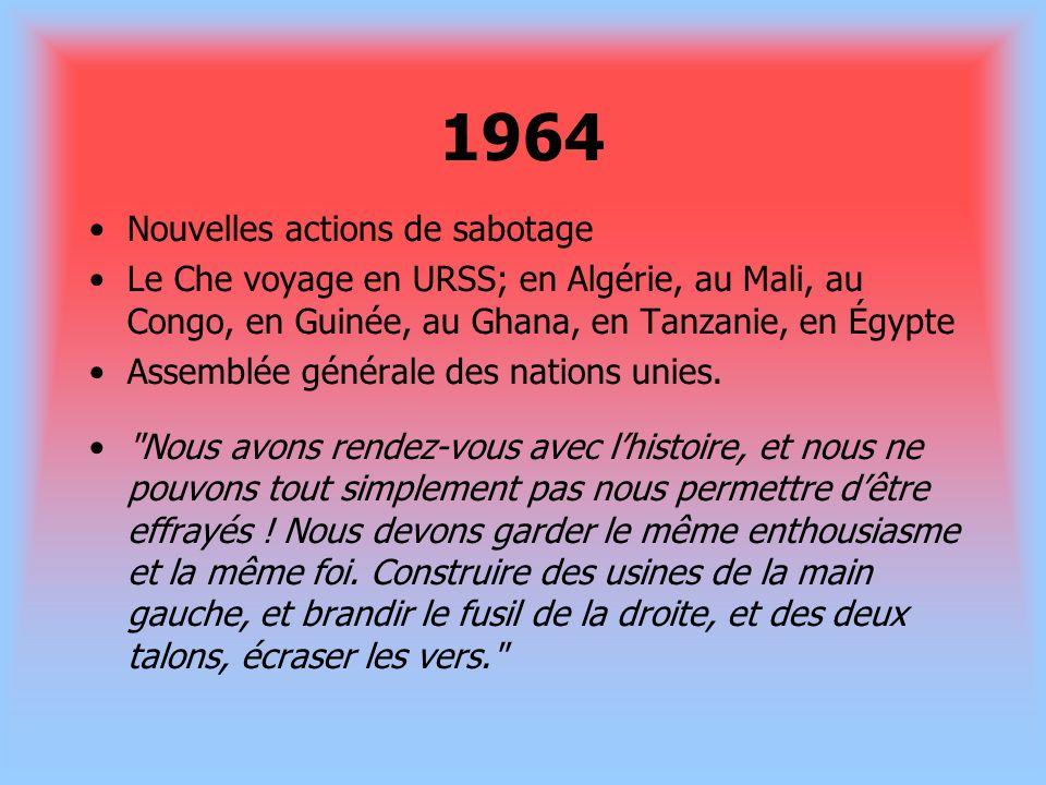 1964 Nouvelles actions de sabotage