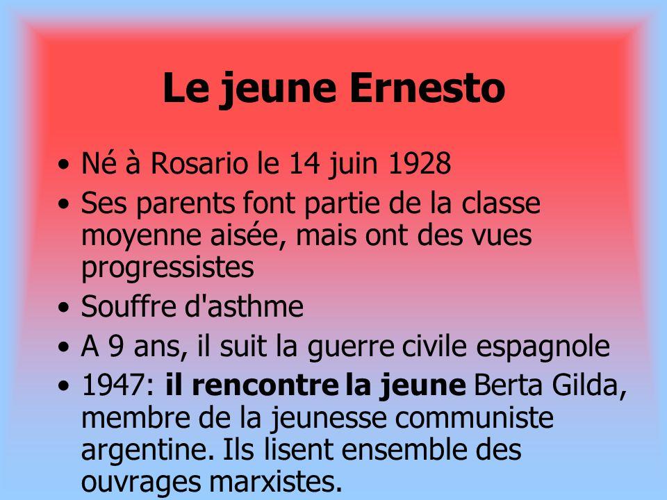 Le jeune Ernesto Né à Rosario le 14 juin 1928