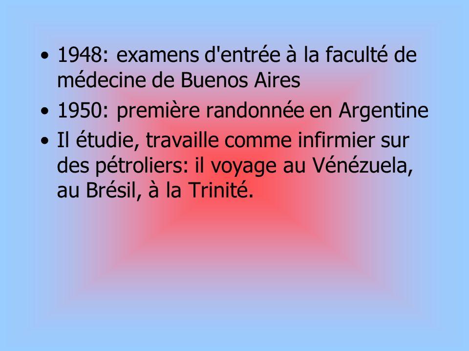 1948: examens d entrée à la faculté de médecine de Buenos Aires