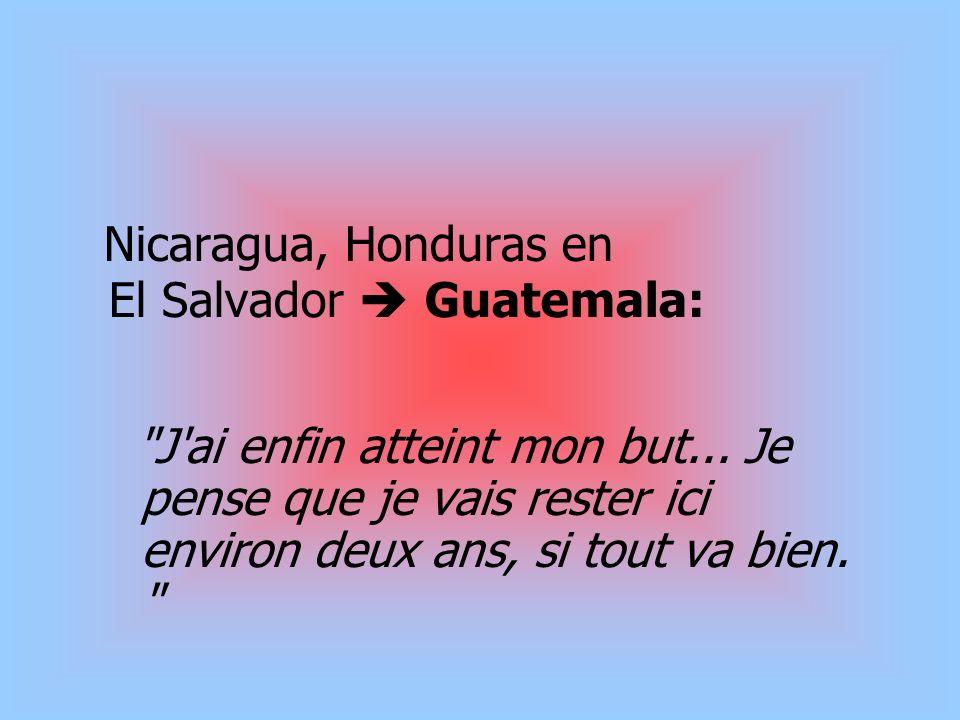 Nicaragua, Honduras en El Salvador  Guatemala: